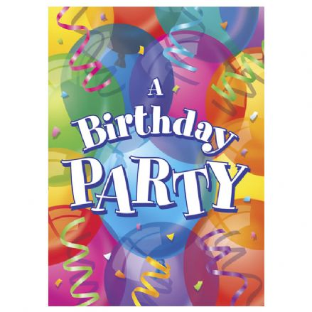 8 Happy Birthday Balloons Party Invites